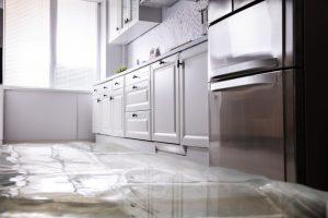 water flood kitchen floor